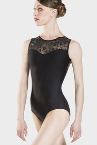 WEAR MOI - Majeste Flock Tank Leotard