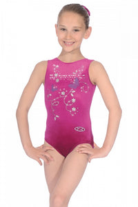 THE ZONE Panache Butterfly Sleeveless Gymnastics Leotard - Z103PAN