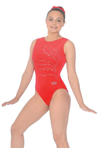 THE ZONE Tiara Crystal Motif Sleeveless Gymnastics Leotard - Z103TIA