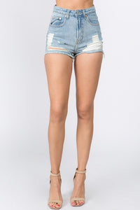 Christina Shorts-Light Denim