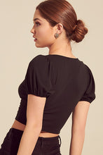 Vera Crop Top- Black