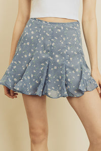 Marlene Skirt- Blue Floral