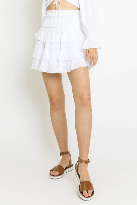 Skye Skirt- White