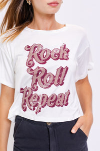 Rock Roll Repeat Tee