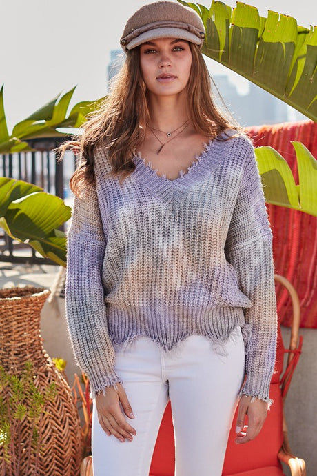 FINAL SALE Celia Sweater-Lavender