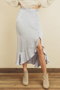 FINAL SALE Mandy Midi Skirt- Ice Blue