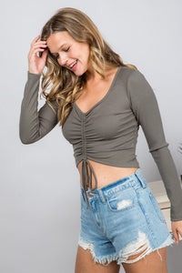 Leanne Top- Olive