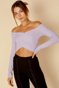FINAL SALE Maggie Crop Top- Lilac