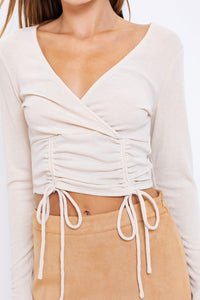 Molly Top- Light Taupe