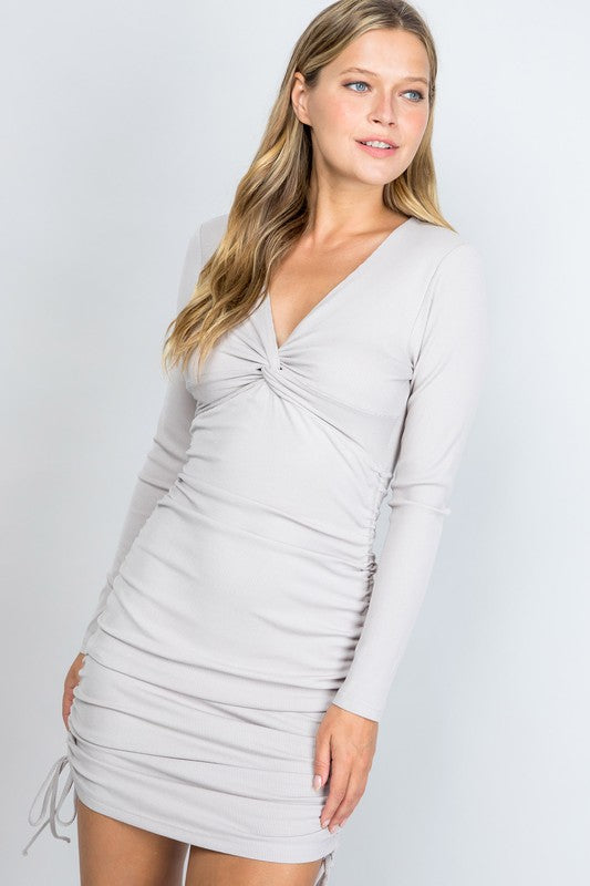 Nicole Dress- Taupe
