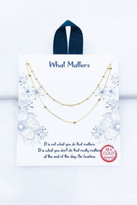 What Matters Necklace