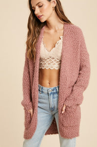 Christa Cardigan-Mauve