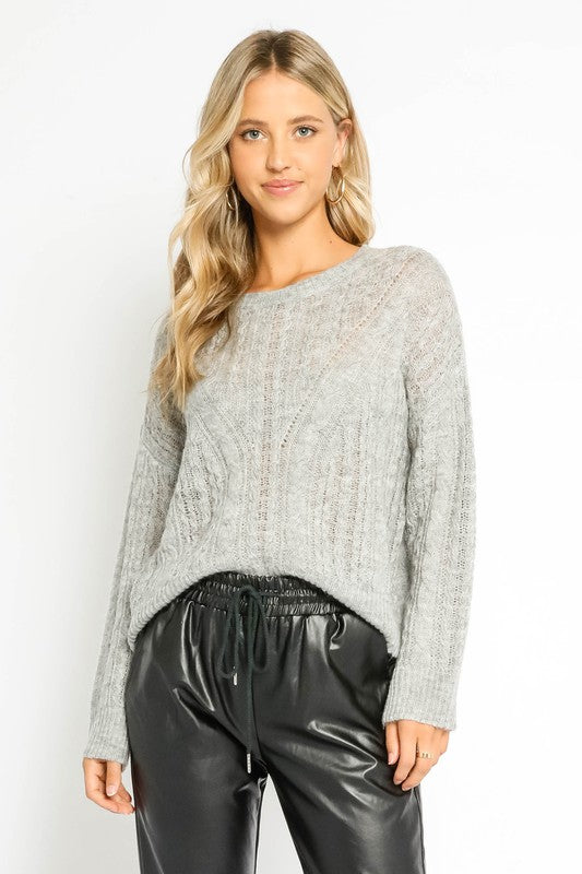 Mallory Sweater-Grey