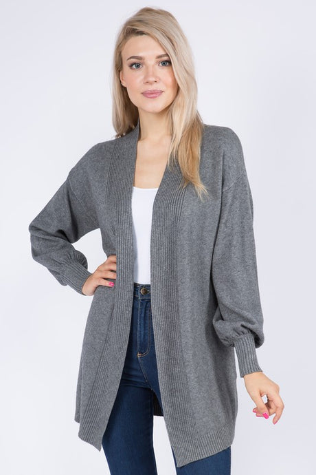 FINAL SALE Alicia Cardigan-Charcoal