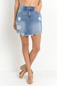 Alyza Denim Skirt