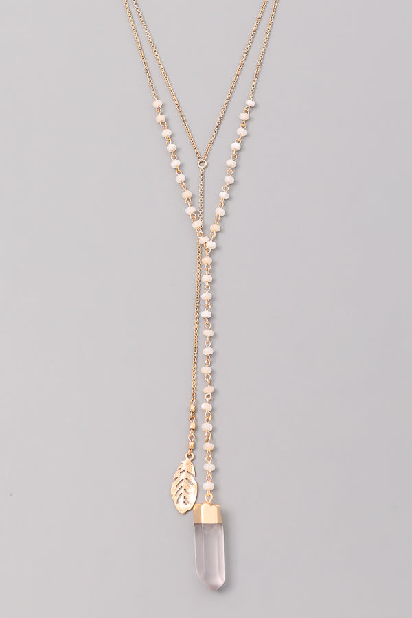 Carrie Crystal Necklace- White