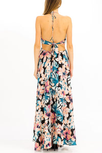FINAL SALE Hallie Hibiscus Maxi Dress