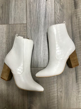Claire Booties- White Croc