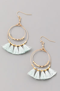 Millie Mint Tassel Earrings