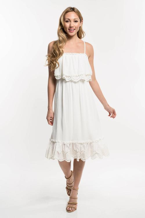 FINAL SALE Ellie Eyelet Dress
