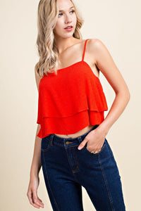 Belle Layered Cami- Red
