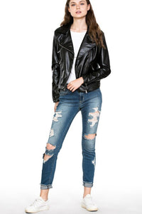 Lonnie Faux Leather Jacket