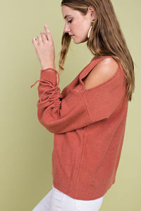 FINAL SALE Reagan Rust Sweater