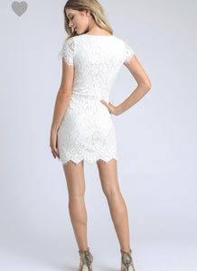 FINAL SALE Remy Dress- White