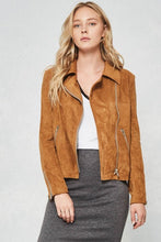 FINAL SALE Leona Faux Suede Jacket- Camel