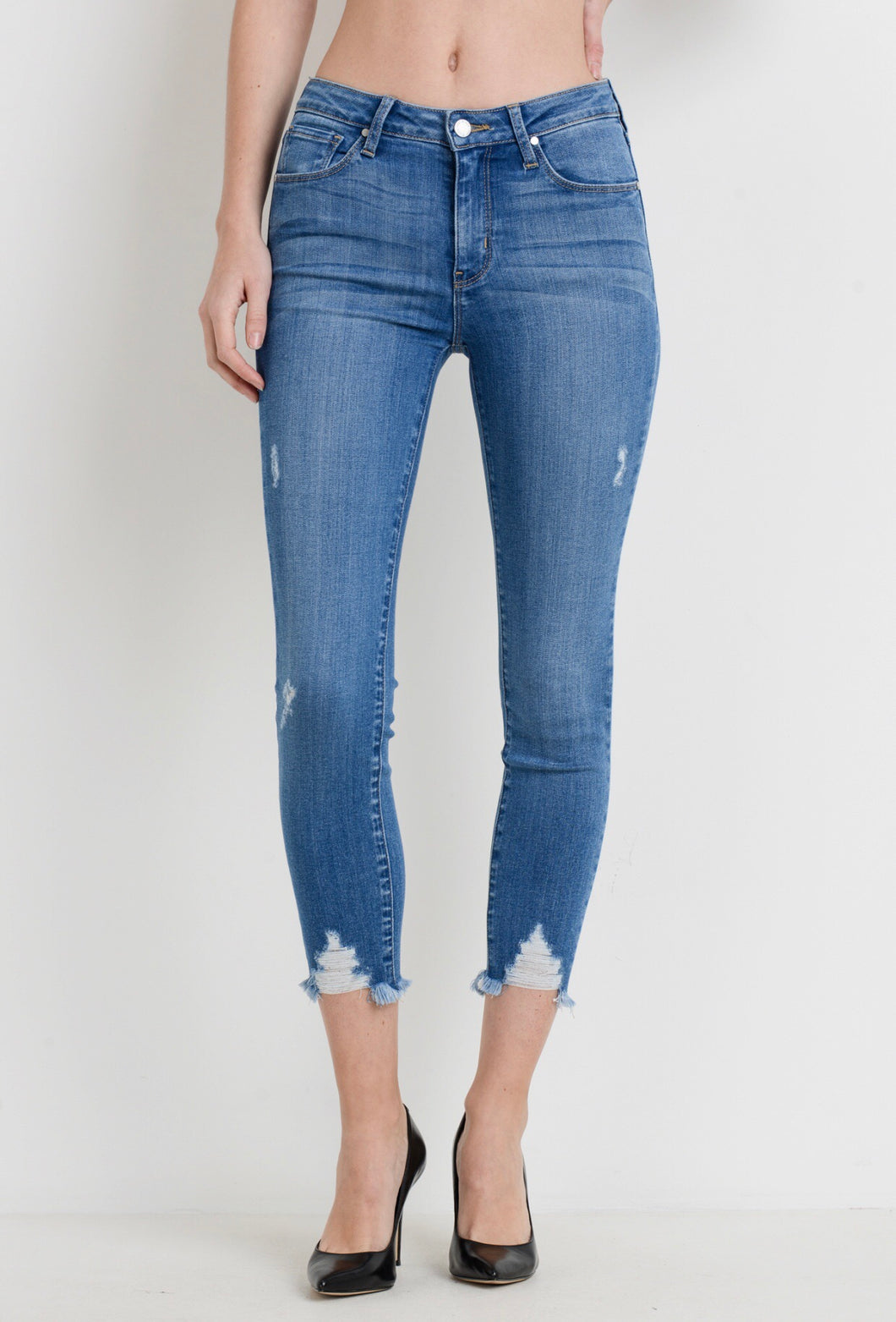Stephanie Jeans- Blue Denim
