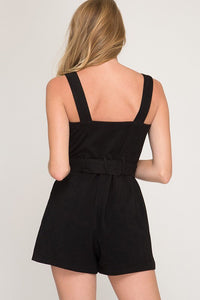 FINAL SALE Jennifer Romper- Black