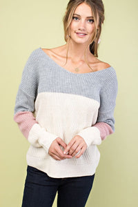 Cici Color Block Sweater