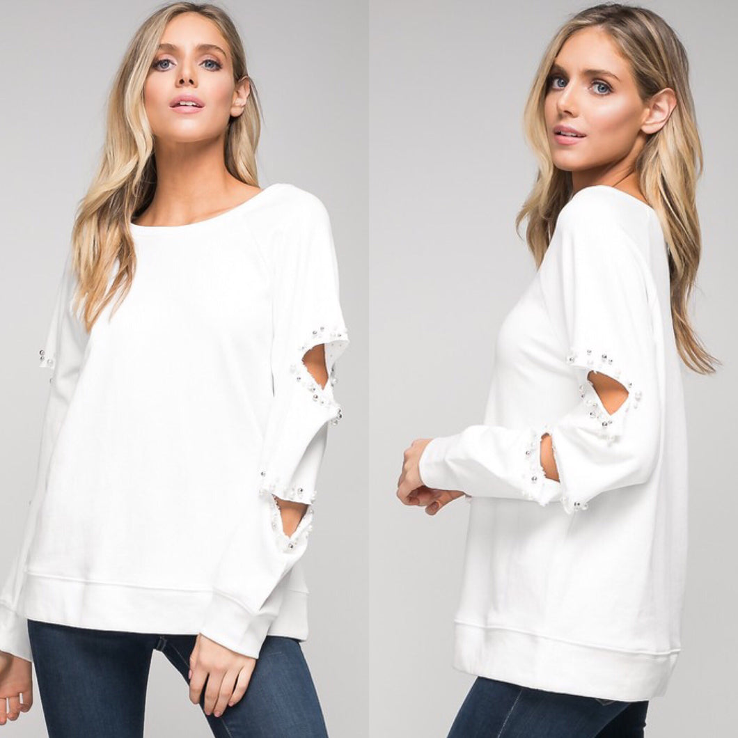 FINAL SALE Whitney White Top