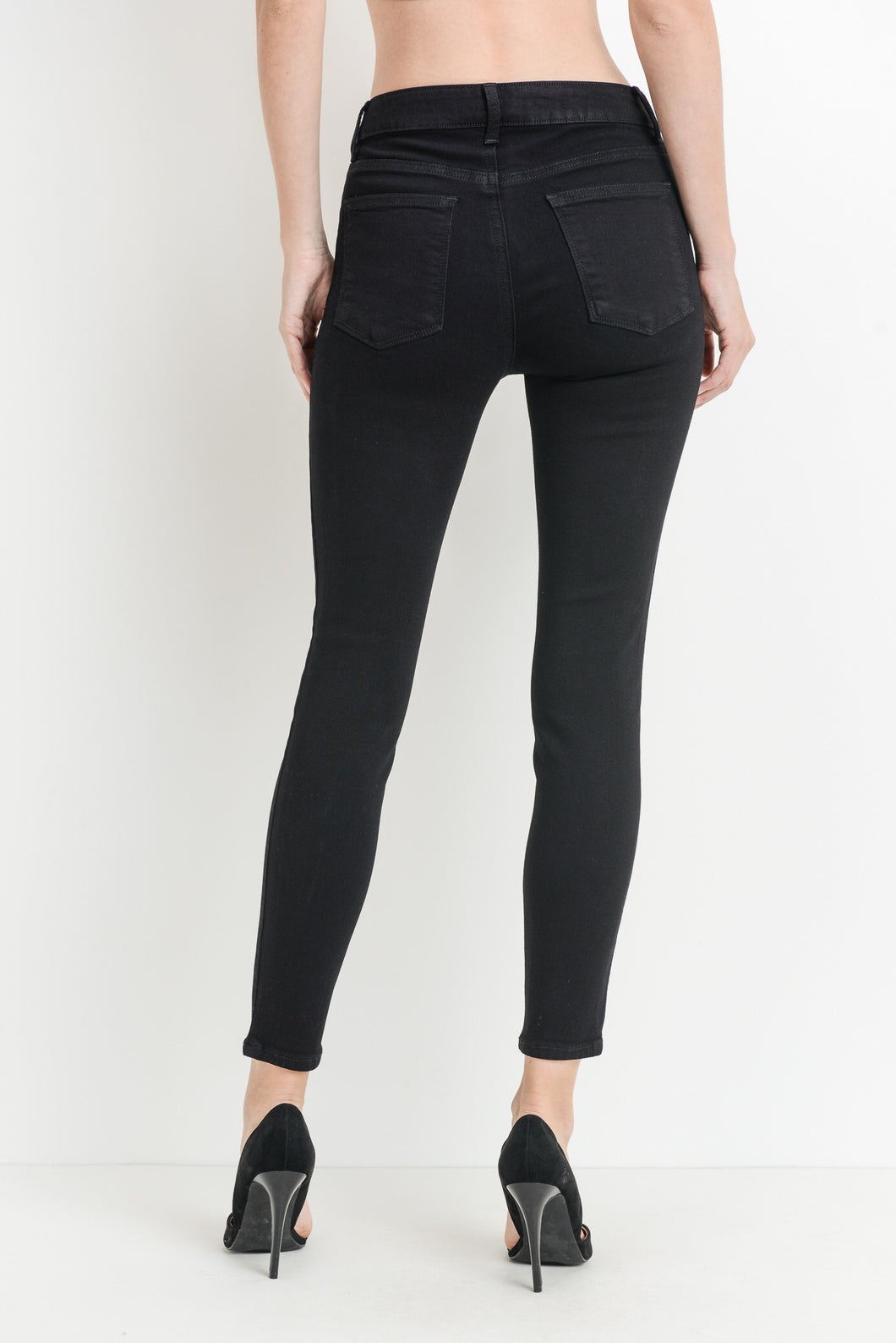 Jenny High Rise Black Jeans