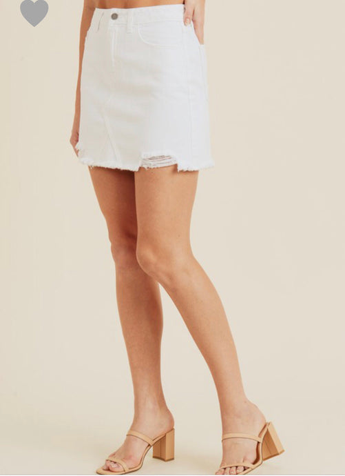 Shay Skirt- White