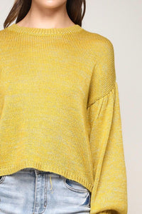 FINAL SALE Sophia Sweater- Mustard