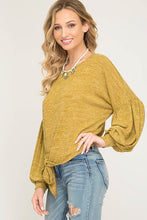 FINAL SALE Melanie Mustard Top