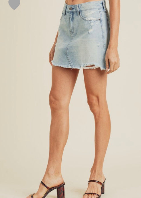 Shay Skirt- Light Denim