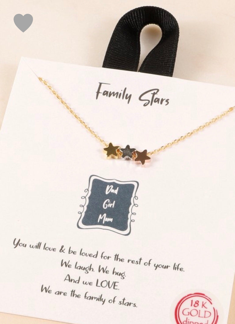 Family Stars Necklace