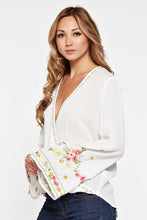 Ella Embroidered Top-White