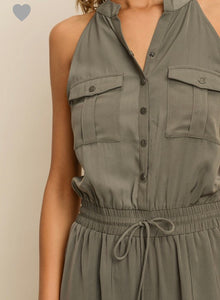 FINAL SALE Nicky Jumpsuit- Deep Sage