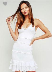 FINAL SALE Sylvie Dress- White