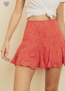 Harley Skirt- Red