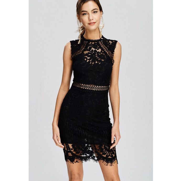 Bianca Lace Dress- Black