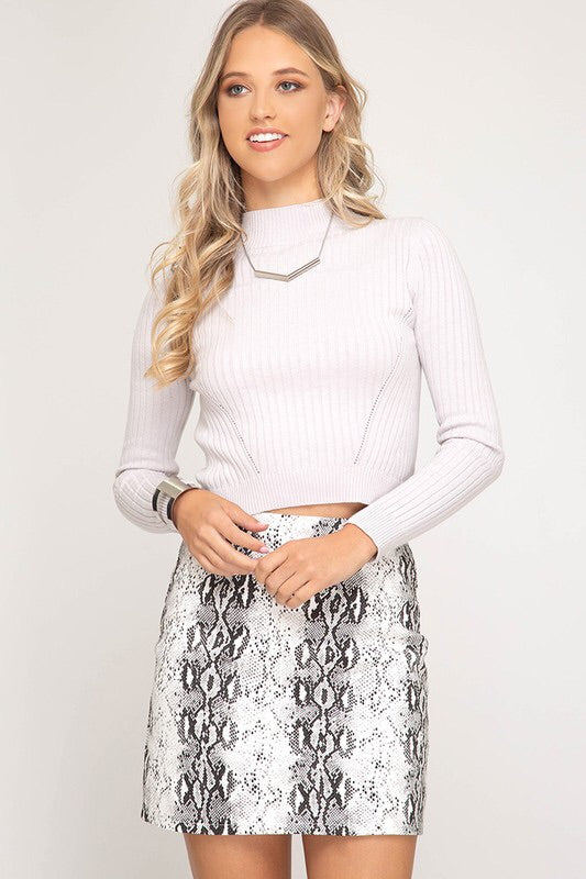 Alaina Skirt- White Snake