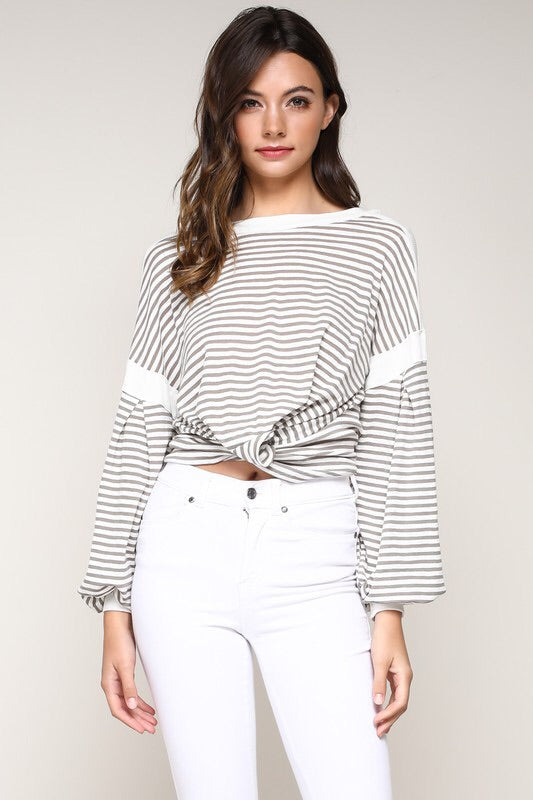 FINAL SALE Sally Striped Top