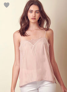 FINAL SALE Chloe Cami- Soft Pink