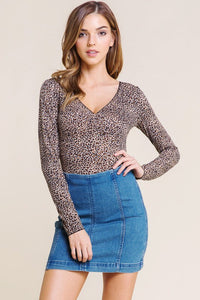 FINAL SALE Halle Leopard Bodysuit