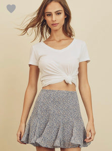 Minka Skirt- Dusty Blue