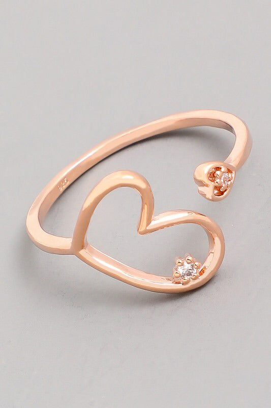 Heart Ring with Diamond